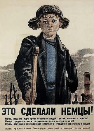 Manifesti propaganda sovietica seconda guerra mondiale tradotti